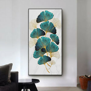 Green Plant Leaf Abstract Poster Nordic Canvas Print Wall Art Decor Painting
