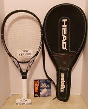 Head Metallix 10 Flexpoint SOS 124 Tennis Racquet 4 3/8-NEW STRINGS/OVERGIRP