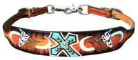 Showman Hand painted Wither Strap With Skull and Cross Design! NEW HORSE TACK!