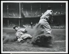 Joe Dimaggio 1946 New York Yankees Sliding Type 1 Original Photo Crystal Clear!
