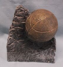 Basketball gold color resin award dark mountian rock style