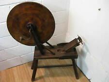 Antique Wooden Spinning Wheel