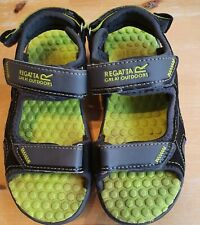 Regatta Boys Walking Sandals Black/Grey/Green  Size UK10 EUR 29 - VGC