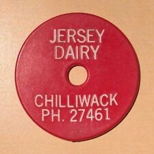 Jersey Dairy Chilliwack PH 27461 Good For One Quart Standard RED