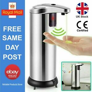 Touchless Hands Free Liquid Sanitizer IR Sensor Automatic Soap Dispenser UK