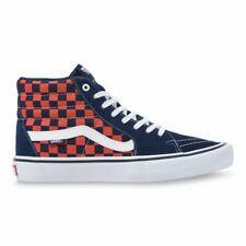 VANS - SK8 Hi Pro | Unisex Shoes | Checkerboard - Navy / Orange
