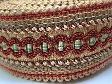 woven fabric 39mm band trim, 12 feet (4 yards) high end decorative embellishment