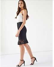 New *Lipsy* (Size 8 Uk) Black Lace Flute Hemline Skirt , Very Elegant