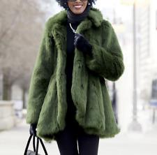 Ashro Madelyn Faux Fur Coat Jacket NEW  size 3X PLUS Green