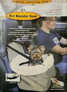 Pet Car Booster Comfortable Seat Carrier Cats Dogs Up to 20 lb adjustable strap
