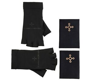 Tommie Copper 2 Pack Compression Fingerless Gloves & Wrist Sleeves S/M/L/XL NWOT