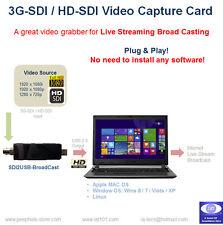 3G-SDI / HD-SDI to USB Video Capture Card / Grabber for Live Stream Broadcast