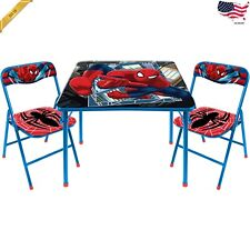 Marvel SpiderMan New Kids Table and 2 Chairs Set -Toddler and Child Spider-Man