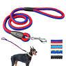 Heavy Duty Strong Braided Pet Dog Walking Lead Leashes Nylon Rope Medium Large