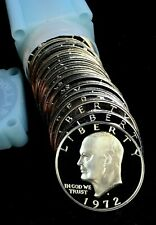 1972-S Silver Proof Eisenhower Ike Dollar Roll - 20 Coins