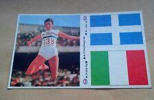 Juegos Olímpicos de Munich 1972 Esso Adhesivo #1 Italia bandera griega #26 #37 GB Sheila Sherwood