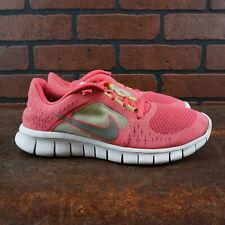 Nike Free Run 3 Youth Girls Size 6 Running Shoes Pink Yellow Gray 512098-600