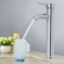Durable Mono Mixer Tap Tall Handel Bathroom Sink Basin Faucet Chrome Brass