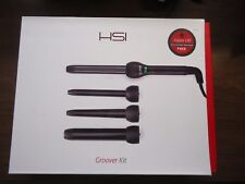 NEW HSI Professional Groover Kit -4 pc ceramic curling wand digital LCD