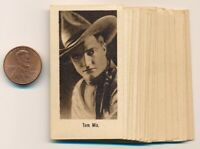 RARE 1926 NEAR SET 32/38 Casanova Small Film Star Cards MARY PICKFORD, TOM MIX