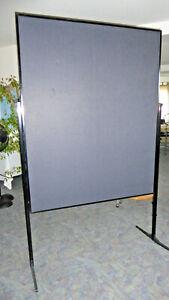Moderationstafel - Pinwand 120 x 150 cm höhenverstellbar, Filz schwarz