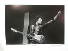 "Jim Marshall: ""Jimi"" Original Silver Gelatin Photograph Signed and Dated 1967"