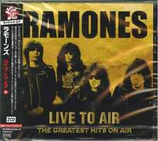 RAMONES-LIIVE TO AIR - THE GREATEST HITS ON AIR-IMPORT 2 CD WITH JAPAN OBI F83