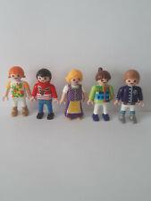 Playmobil personnage lot 5 enfants pour école maison moderne city live bus