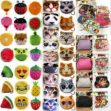 High Fashion Women's Soft Cute Cartoon Plush Small Coin Purse Wallet Case Bag