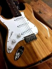 NEW 12 STRING HARD TAIL LEFT HANDED STRAT ELECTRIC GUITAR NATURAL LEFTY