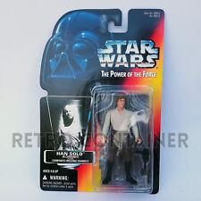 STAR WARS Kenner Hasbro Action Figure - POTF POTF2 - Han Solo Carbonite (Orange)