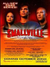 Smallville Season 3 Three Trading Card Dealer Sell Sheet Promotional Sale 2004