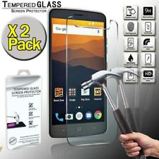 2 Pack Tempered Glass Screen Protector Cover For ZTE Max XL