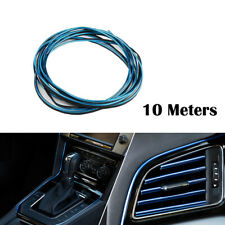 Chrome Blue 10M DIY Car Grille Auto Interior Decoration Mounding Trim Strip Line