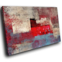 AB1193 red blue grey Modern Retro Abstract Canvas Wall Art Large Picture Prints