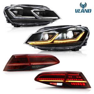 VLAND Scheinwerfer&Rücklichter für Golf7 MK7 VII 12-17 mit sequentieller Halogen