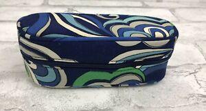 "Vera Bradley Eye Class Case -- Zip Closure, Mediterranean Blue Print 6x2.5"""