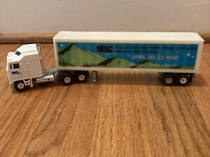 🔥Vintage 1986 Yatming Tractor Trailer SMC Conference Asheville RARE For Local