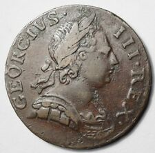 GRANDE-BRETAGNE : ASSEZ RARE 1/2 PENNY DE GEORGES III 1773