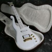 Top Quality Customized Pince Electric Guitar Speical Shape CNC Made White Color