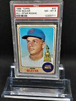1968 Topps #45 Tom Seaver - HOF - Mets - PSA 8 - NM-MT - 12200711 - SCA