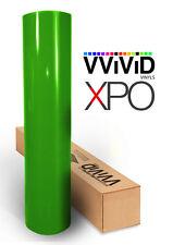Lime Green Gloss car vehicle vinyl wrap 10ft x 5ft cast film roll VViViD XPO