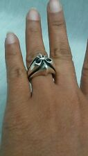 Beautiful King Baby sterling  925 fluer de lis   ring size 7.25