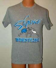 Team Gear Sharksl wrestling T shirt screened   small gray