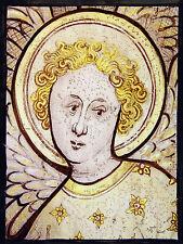 Angel stained glass fragment, angel suncatcher, kilnfired, glass painting, Angel