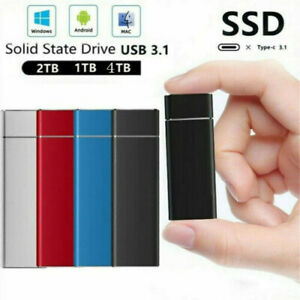 Portable External SSD Type-C USB 3.1 4TB/2TB/1TB Mobile Mini State Drives