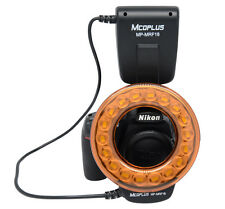 Mcoplus FC110 Leitzahl 18 Makro Ringblitz für Makrofotografie Canon Nikon Sony