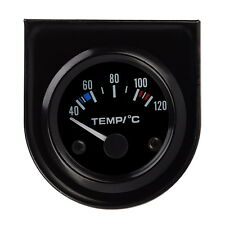 "2"" 52mm Car Pointer Water Temperature Temp Gauge 40-120 Celsius White LED DC12V"