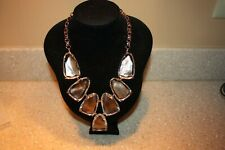 Kendra Scott Harlow In Suspended Brown Mother of Pearl & Rose Gold NWT NEW $225