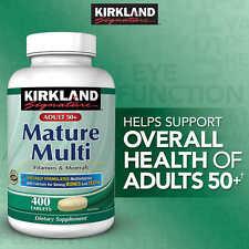 Kirkland Signature Mature Multi 400 Tablets Adult 50+ Multi Vitamin & Mineral